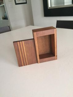 Wooden Box/ Jewelry Box/ Keepsake Box/Handmade Wooden Box/Wooden Container/Storage Box/Lidded Box/By Floating Nightstand, Floating Shelves, Wood Box Design, Wooden Containers, Handmade Wooden, Handmade Gifts, Jewelry Box, Unique Jewelry, Wood Boxes