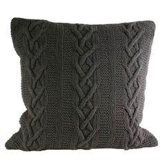 Paoletti Aran Pure Cotton Cable Knit Cushion Cover, Charcoal, 55 x 55 Cm Paoletti http://www.amazon.co.uk/dp/B009FAO868/ref=cm_sw_r_pi_dp_JsiBwb1MMJMMW