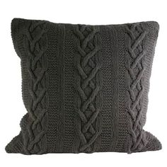 Paoletti Aran Pure Cotton Cable Knit Cushion Cover, Charcoal, 55 x 55 Cm Paoletti http://www.amazon.co.uk/dp/B009FAO868/ref=cm_sw_r_pi_dp_JsiBwb1MMJMMW