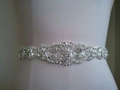 SALE  18 Inches Long Wedding Belt Bridal by LucyBridalBoutique