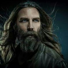 Beard, wild man, authentic, blue eyes, hair, raw,