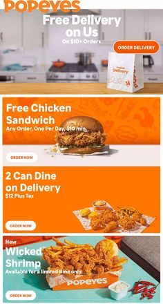 Pinned November 12th: #FREE chicken sandwich with $10 spent & more at #Popeyes #TheCouponsApp Fish Dinner, Seafood Dinner, Chicken Wraps, Chicken Sandwich, Popeyes Menu, Family Meals, Kids Meals, Butterfly Shrimp, Cajun Rice