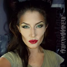 Maleficent makeup for Halloween