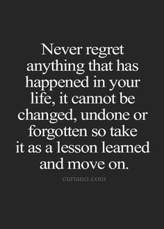 NEVER REGRET ANYTHING - GOLD DUSTED.