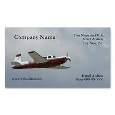 Single Engine Plane Business Card. I love this design! It is available for customization or ready to buy as is. All you need is to add your business info to this template then place the order. It will ship within 24 hours. Just click the image to make your own!