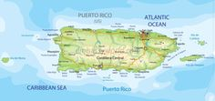 Puerto Rico Map (Physical)