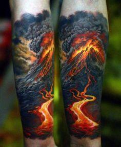 a_atividade_vulcnica_do_antebraço_tatuagem #tattoosformensleeve