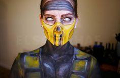Scorpion, Mortal Kombat make-up transformation