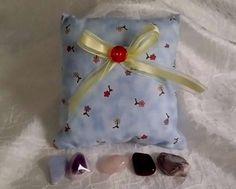 Metaphysical Pocket Pillow & 5 Crystal Healing Chakra Rock Set Reiki Energy