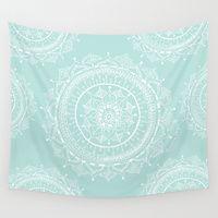 Wall Tapestries featuring Mandala by Rambutan Designs