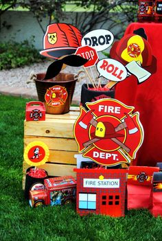 Fire Fighter Birthday Party Ideas | Photo 13 of 112 | Catch My Party