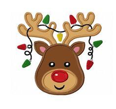 Christmas Reindeer Applique Machine by LovelyStitchesDesign