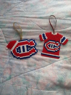 Montreal Canadiens logo and jersey. $7 each. Loom Beading, Beading Patterns, Crochet Patterns, Stitch Patterns, Pearler Bead Patterns, Perler Patterns, Perler Beads, Plastic Bead Crafts, Beads Pictures