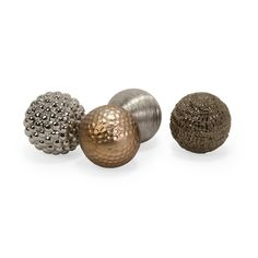 Metallic Finished Orbs - Set of 4 $28.12