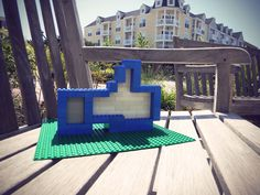 Created the facebook like icon out of old lego bricks Outdoor Chairs, Outdoor Furniture, Outdoor Decor, Like Icon, Fb Like, Lego Brick, Bricks, Sun Lounger, Sculptures