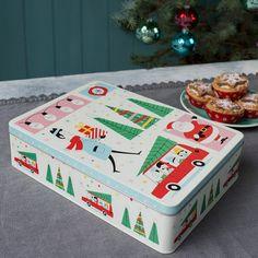 """Die leckeren Weihnachtsplätzchen finden ab sofort einen gebührenden Platz in der niedlichen Keksdose """"Christmas"""". Ob Sie sie behalten oder verschenken ist dann Ihre Sache - wir würden auf jeden Fall erstmal naschen ♥"""