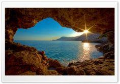 Sea Cave HD Wide Wallpaper for Widescreen
