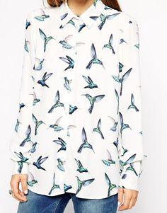 ASOS | ASOS – Bluse mit Vogelprint bei ASOS
