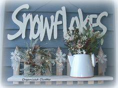 Snowflakes Winter Outdoor Vignette