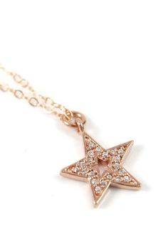 Lucky Star necklace simple rose gold filled by ColorMeMissy