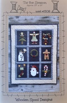 "Pattern by Wooden Spool Designs - Tis the season - finished size about 23"" by 29"""