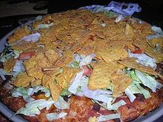 I'm Just Beachy: Casey's Taco Pizza Recipe  Lauren will be so happy if it tastes the same as the Casey's Version!