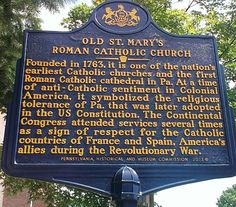 Old St. Mary's Roman Catholic Church.  This marker is located outside of the church, 252 South 4th Street.