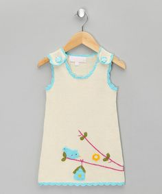 Another great find on #zulily! Cream Birdcage Jumper - Toddler #zulilyfinds