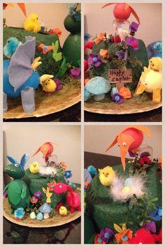 Dinosaur roar easter bonnet by Alexandra Kevlin T. rex dino eggs bunny