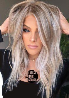 34 Latest Hair Color Ideas for 2020 – Get Your Hairstyle Inspiration for Next Season – Latest Hair Colors - hair style Hair Color Balayage, Hair Highlights, Latest Hair Color, Latest Hair Trends, Ash Blonde Hair, Dark Hair, Short Blonde, Grey Hair, Fall Hair Colors