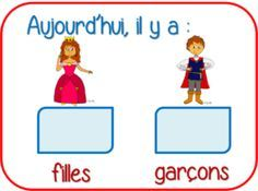 Counting practice: how many boys and girls in the classroom?Comptage des filles et des garçons French Teaching Resources, Teaching French, French Education, Core French, Numbers Preschool, French Classroom, French Teacher, French Immersion, Montessori Activities