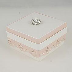 lace edge wedding favour box