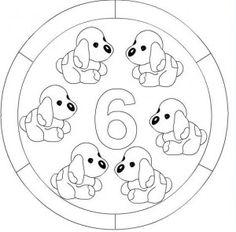 number 6 mandala coloring