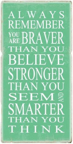 You are more than you think you are!! This is so true for me
