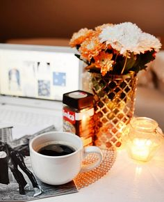 cozy evening with coffee