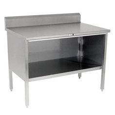 """Restaurant Kitchen Work Tables john boos baker's table - 2-1/4"""" maple, stainless base & shelf at"""