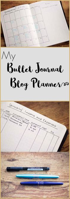 I have been keeping a bullet journal for a while, and recently added a second for a blog planner. I am loving the simplicity and flexibility!
