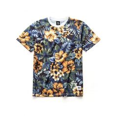 Island Flower Mesh Tee ($36) ❤ liked on Polyvore featuring tops, t-shirts, shirts, tees, mesh top, mesh t shirt, flower print shirt, mesh tee and flower print t shirt