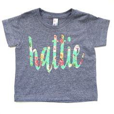 oooh la la! this is the absolute perfect tee for your mini me, this spring. a grey short sleeve tee. that is oh so very soft and light weight! it
