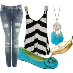 Casual Turquoise., created by withlove23x on Polyvore