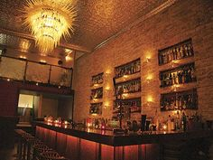 A great modern-day speakeasy back home. Complete with secret passwords and a discreet, unmakred entrance. Love it.