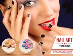 #Nail_Ar_Ddesign : #Nail_Art_Tutorials from #Khoobsurati. So here are step-by-step instructions for you to try it out this creative piece of #nail_art. What say Guys !! #Online_Shopping #Discount #Beauty #Fashion