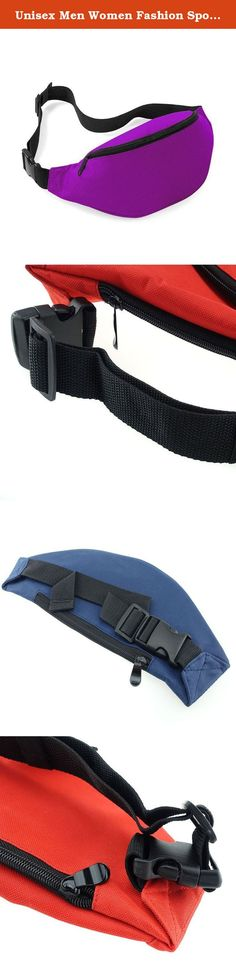 Unisex Men Women Fashion Sporty Multi-purpose 2-Zipper Waist Belt Bag Fanny Pack Adjustable Strap for Sport Hiking Traveling Passport Wallet (Purple). This Waist Pack, a 150-cubic-inch pack that holds just enough for most on-the-go activities. It comes with a sizable main compartment to hold snacks, a book, and other basics, along with a zippered front pocket to keep essentials handy. It also has a small zippered rear packet to keep your ID, passport, cash and etc. The adjustable waist…
