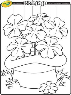 St Patricks coloring page all printable
