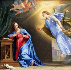 Annunciation 62  The Angel Gabriel's announcement to the young virgin Mary,