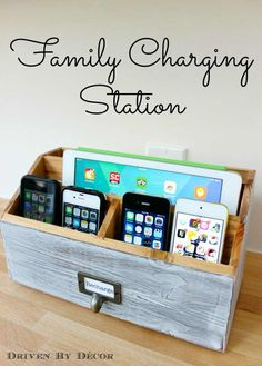 DIY Gifts for Your Parents | Cool and Easy Homemade Gift Ideas That Mom and Dad Will Love | Creative Christmas Gifts for Parents With Step by Step Instructions | Crafts and DIY Projects by DIY JOY  |  Charging-Station  | http://diyjoy.com/diy-gifts-for-mom-dad-parents
