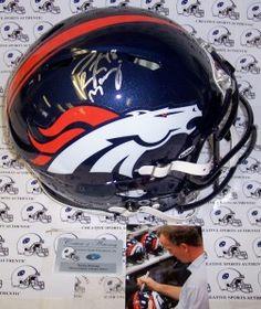 Peyton Manning Hand Signed Denver Broncos Speed Revolution Authentic Helmet - BiggSports.com
