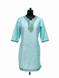 Simple & Elegant Cotton Silk Kurti by Guluzfashion