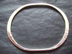 Forged oval bangle £60.00