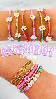 Diy Crafts Jewelry, Bracelet Crafts, Cute Jewelry, Beaded Jewelry, Beaded Bracelets, Diy Bracelets Easy, Handmade Bracelets, Handmade Jewelry, Pulseras Kandi